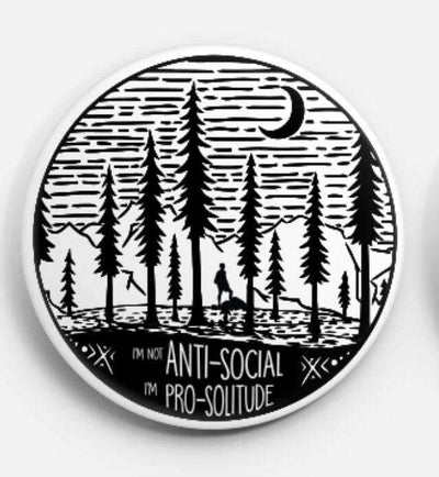 Solitude Pin - It's A Wanderful Life Official Brand Store