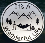 It's A Wanderful Life Hammock Sticker