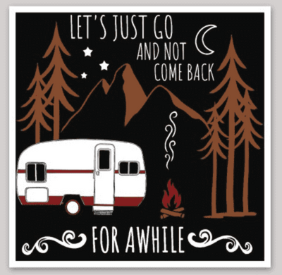 Let's Just Go Sticker - It's A Wanderful Life Official Brand Store