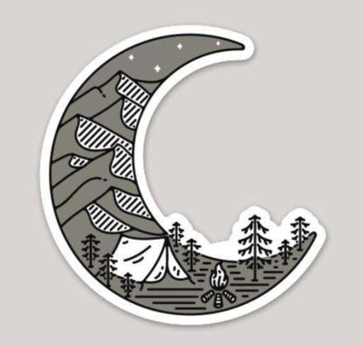 Crescent Moon Sticker - It's A Wanderful Life Official Brand Store