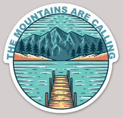 The Mountains Are Calling Sticker - It's A Wanderful Life Official Brand Store
