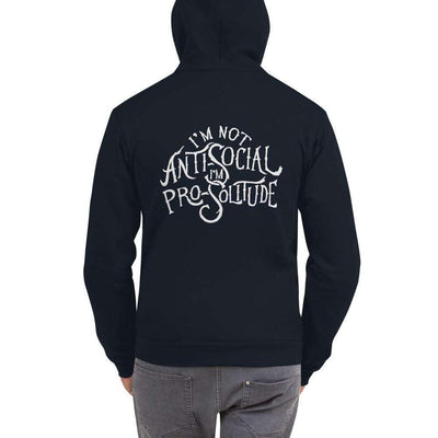 Pro-Solitude Zipper Unisex Hoodie - It's A Wanderful Life Official Brand Store