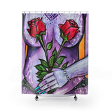 Shower Curtain / Tapestry - Flower Girl series #2 (Purple)