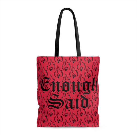Tote Bag - Signature Enough Said - Magenta
