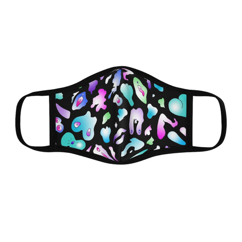 Fitted Polyester Face Mask - Abstract Body