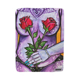 Sherpa Fleece Blanket - Flower Girl Series (#2 Purple)