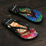 Unisex Flip Flops / Slippers - Mismatch Believe / Let go of the Toxic People