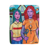 Sherpa Fleece Blanket - American Gothic Rendition