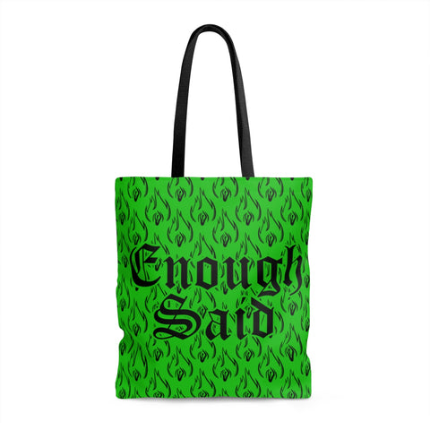 Tote Bag - Signature Enough Said Pattern - Green