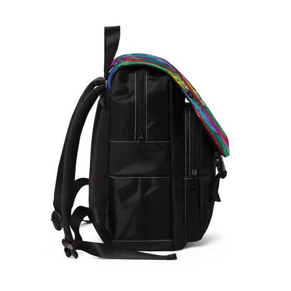 Unisex Casual Shoulder Backpack - Pearl