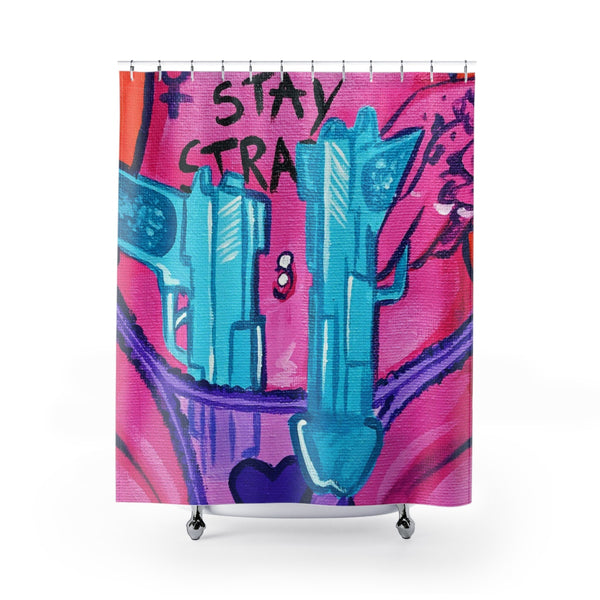 Shower Curtain / Tapestry - Stay Strapped