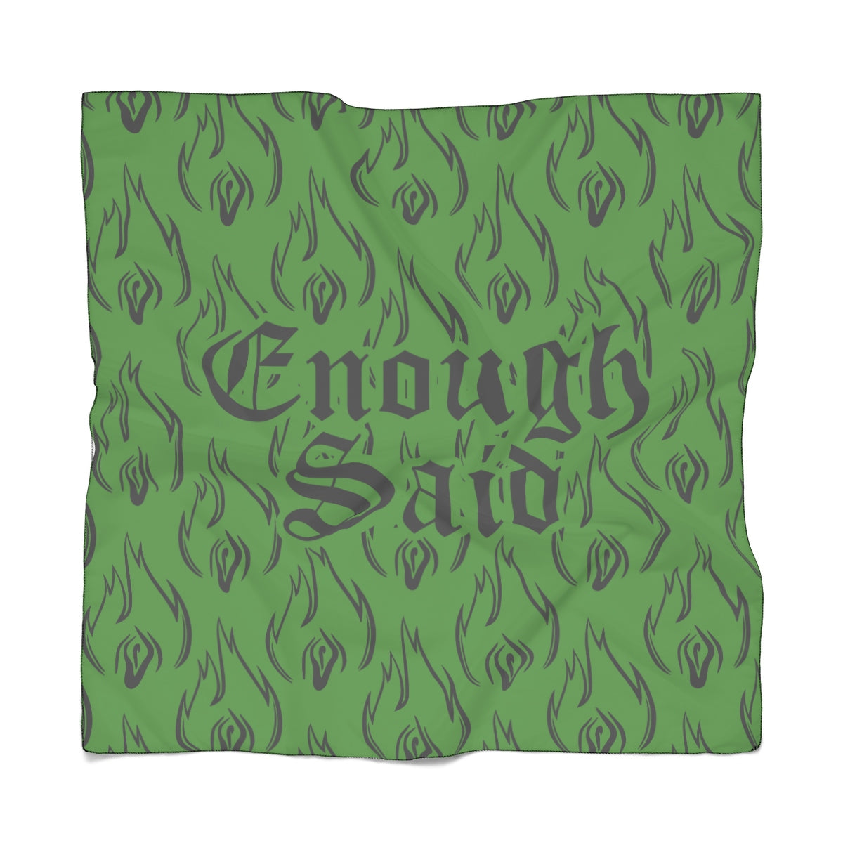 Poly Scarf - Enough Said Signature Logo