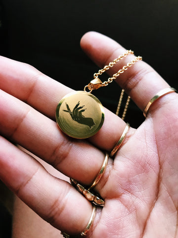 Charm Necklace - Classy Potheads (Gold)