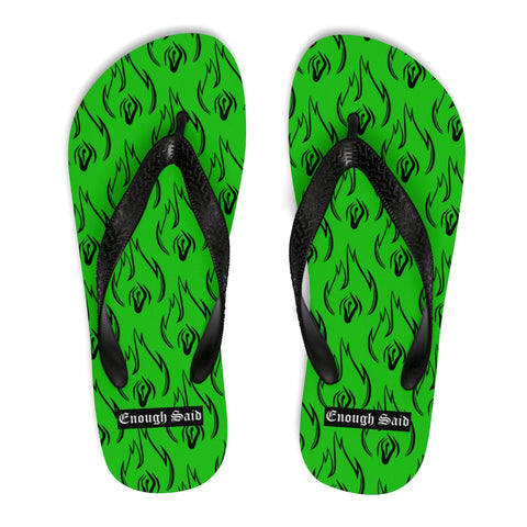 Unisex Flip Flops / Slippers - Enough Said Signature Logo