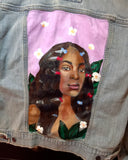 One of Kind painted jacket - Solange Size: Medium