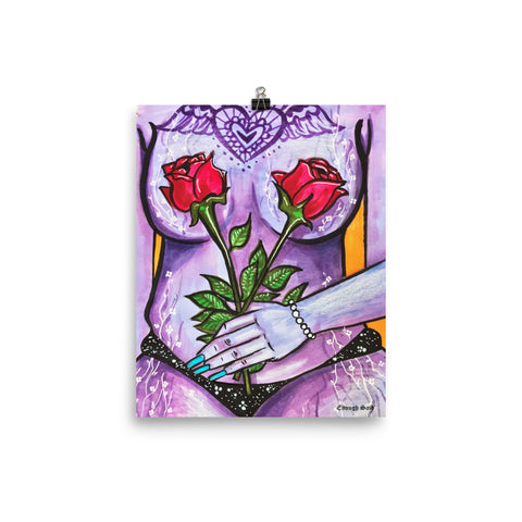 Poster - Flower Girl Series (#2 - Purple)
