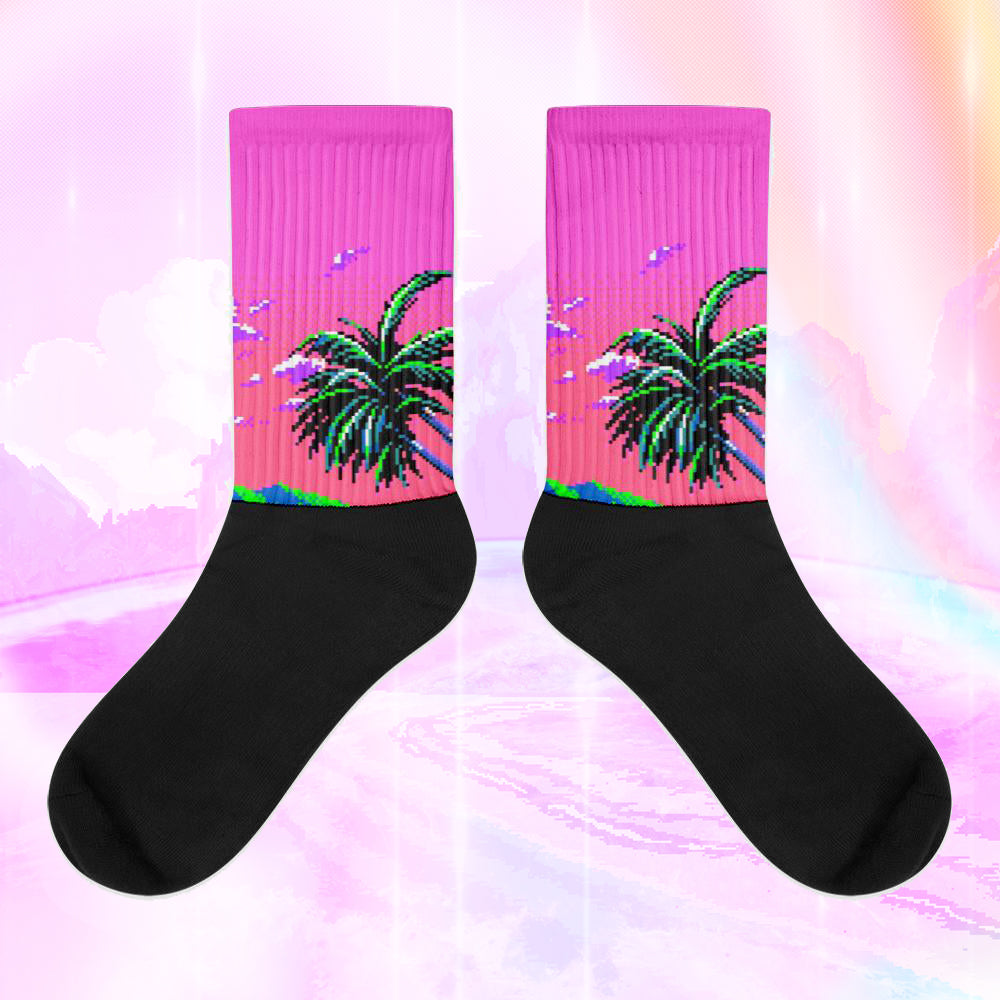aesthetic, vaporwave, socks