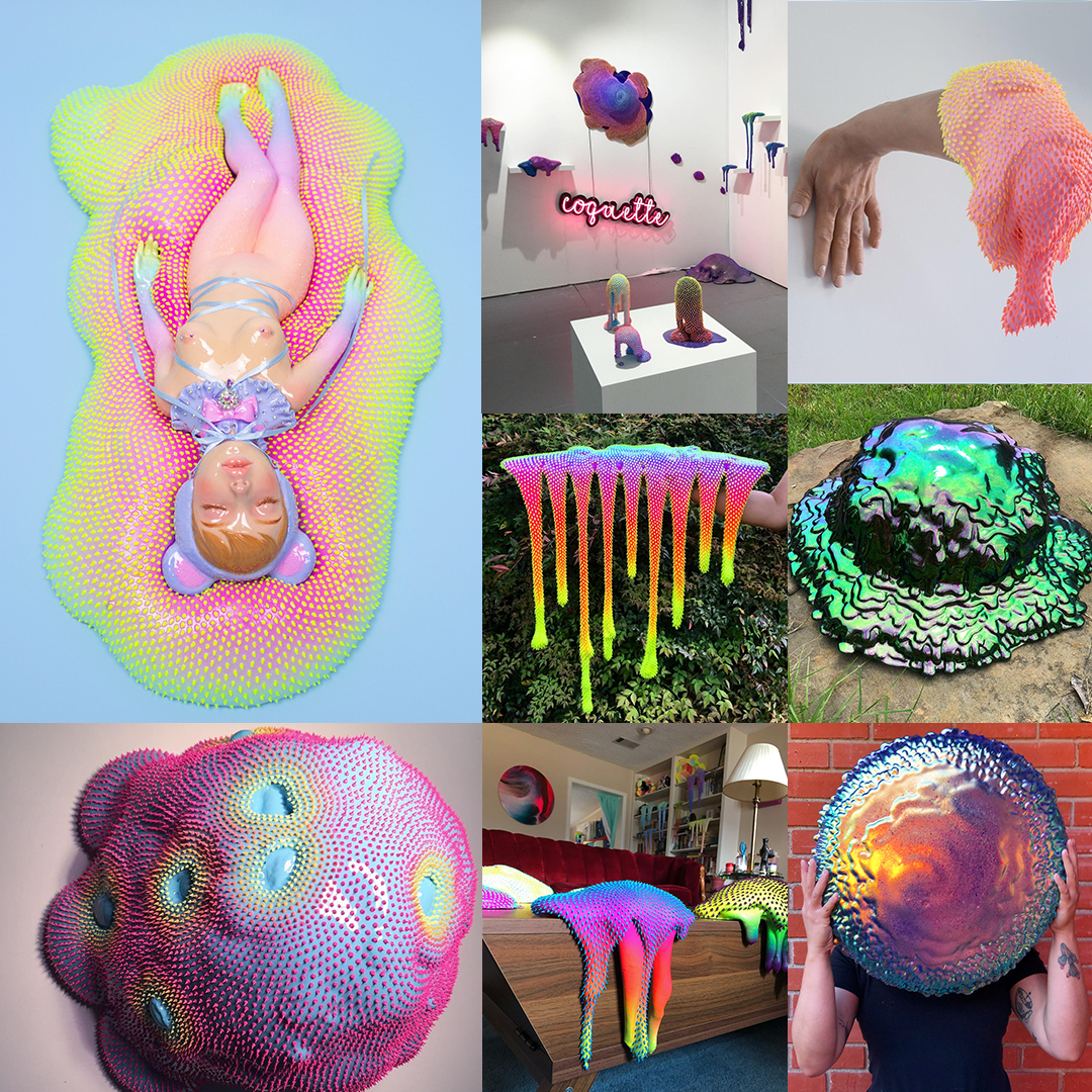 slime artwork sopopomo vaporwave aesthetic jelly colorful colors