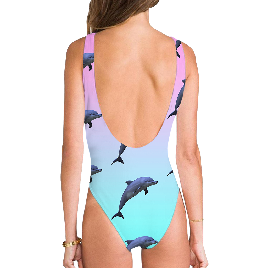 Dolphinz High Legged One Piece Swimsuit