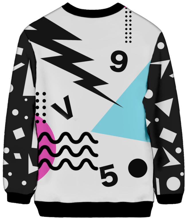 All Over Print Sweatshirt - Shockwave Sweatshirt