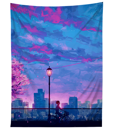 Plum Sky Ride Tapestry