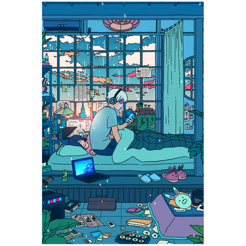 Sleepy Days Poster Poster Vapor95 24x36 inch