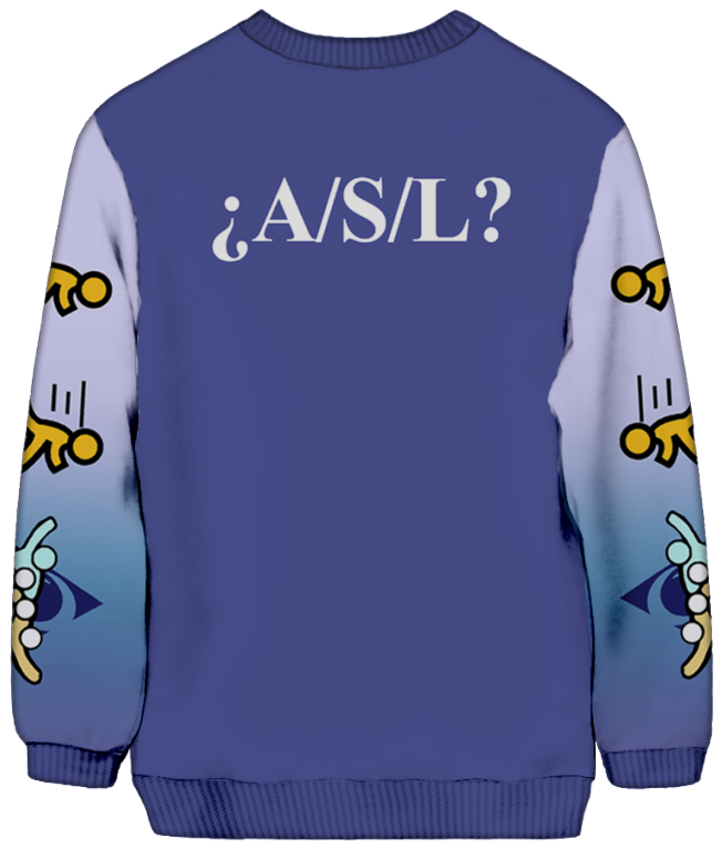 All Over Print Sweatshirt - Welcome! Sweatshirt