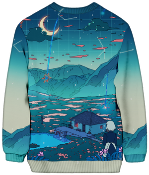 All Over Print Sweatshirt - Crystal Shower Sweatshirt