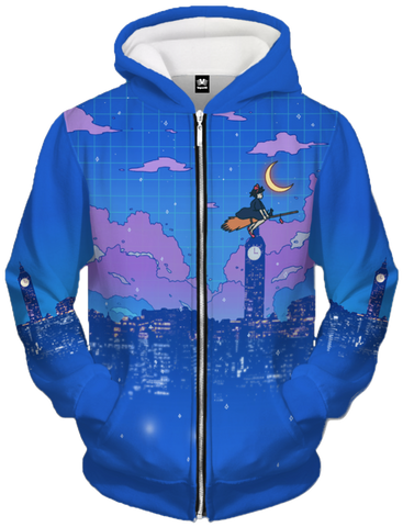 Delivery Service Zip Up Hoodie All Over Print Zip Up Hoodie Accorsi Industries