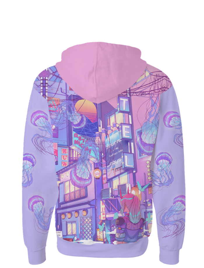 All Over Print Zip Up Hoodie - Dream Realm Zip Up Hoodie