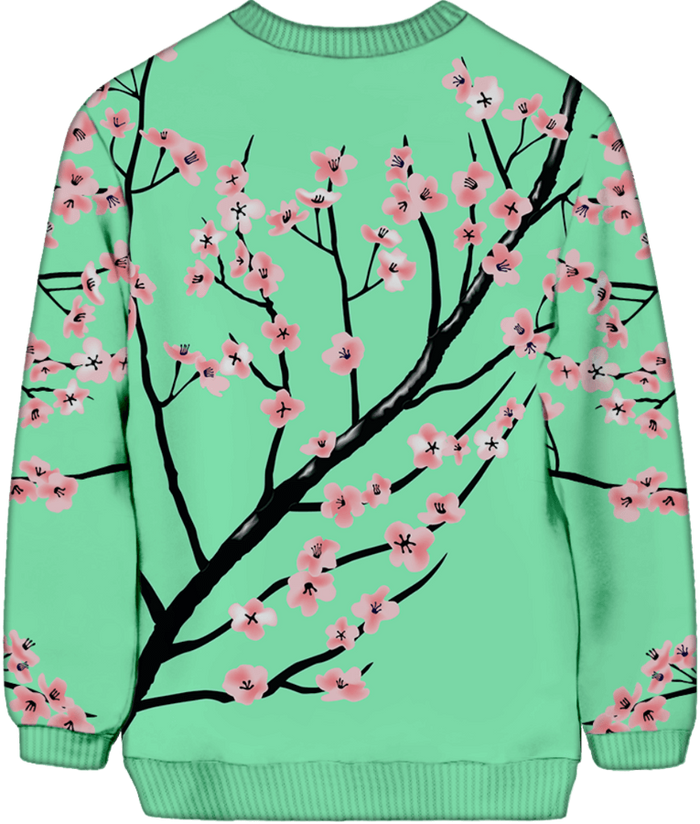 All Over Print Sweatshirt - Full Bloom Sweatshirt