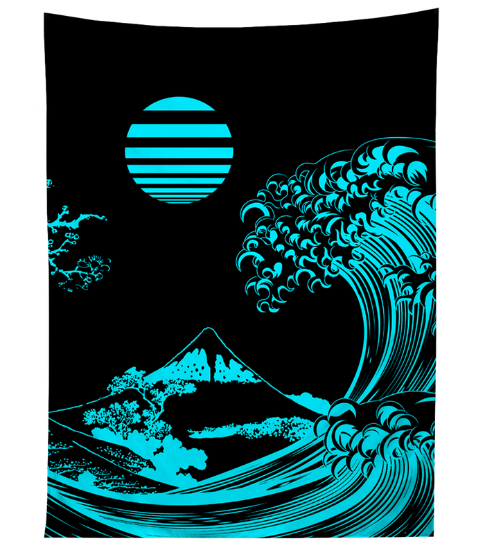 Tapestry - Fluorescent Wave Tapestry