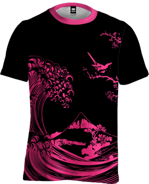 Fluorescent Wave Tee All Over Print Tee T6 XS Fuchsia