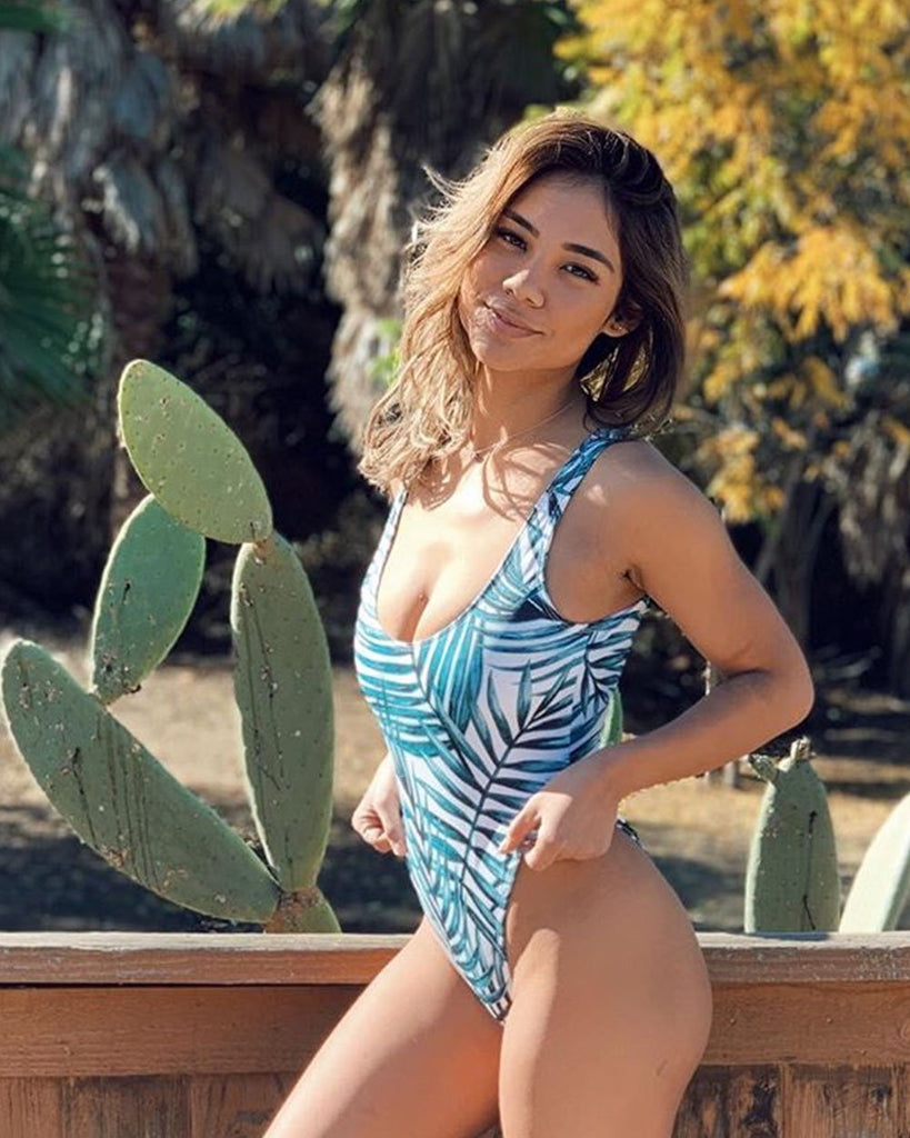 Paradise High Legged One Piece Swimsuit