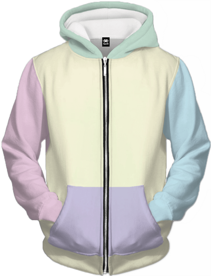 All Over Print Zip Up Hoodie - Neapolitan Zip Up Hoodie