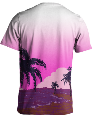All Over Print Tee - Pixel Paradise Tee