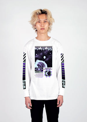 Star Surfer Long Sleeve Tee Long Sleeve Graphic Tee Vapor95 White S