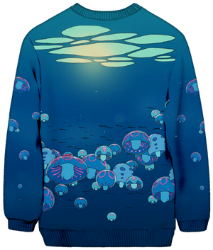 All Over Print Sweatshirt - Under The Surface Sweatshirt