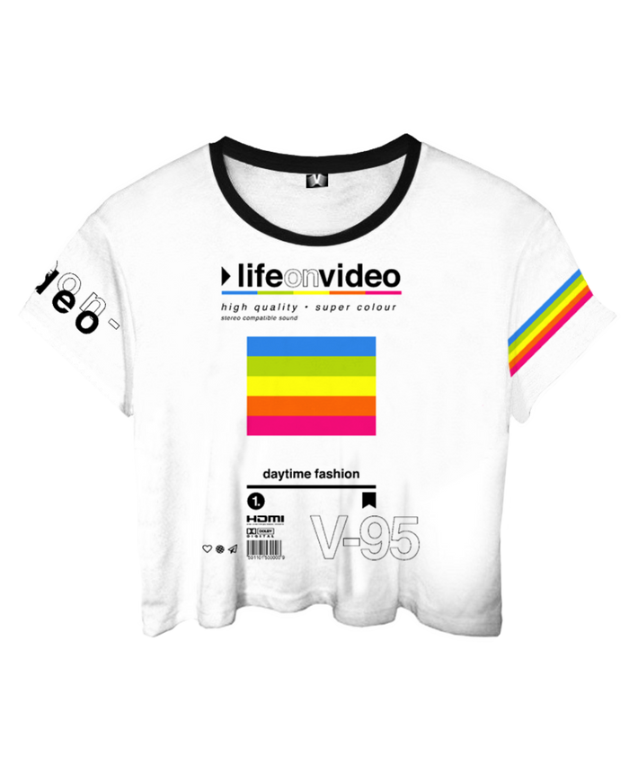 Life On Video Crop Top