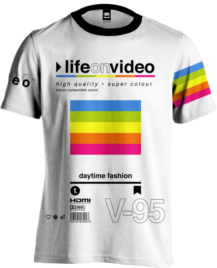 All Over Print Tee - Life On Video Tee