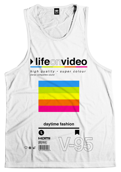 Life On Video Tank Top All Over Print Tank Top T6