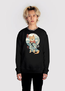 Zen Shiba Sweatshirt Graphic Sweatshirt Vapor95 Black S