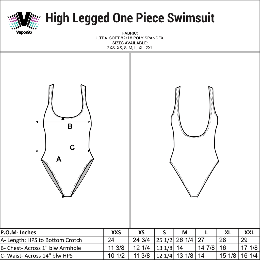 Mount Fuji High Legged One Piece Swimsuit