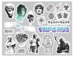 Heavy Aesthetic Sticker Sheet Sticker Vapor95
