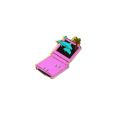 Dolphin Advance Pin by Vapor95, Vaporwave, Retro, Unique