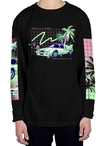Lightbeam Travel Long Sleeve Tee Long Sleeve Graphic Tee Vapor95