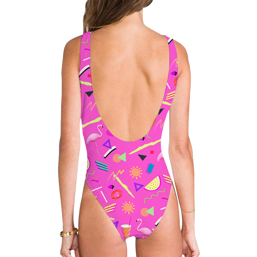 Pool Party High Legged One Piece Swimsuit