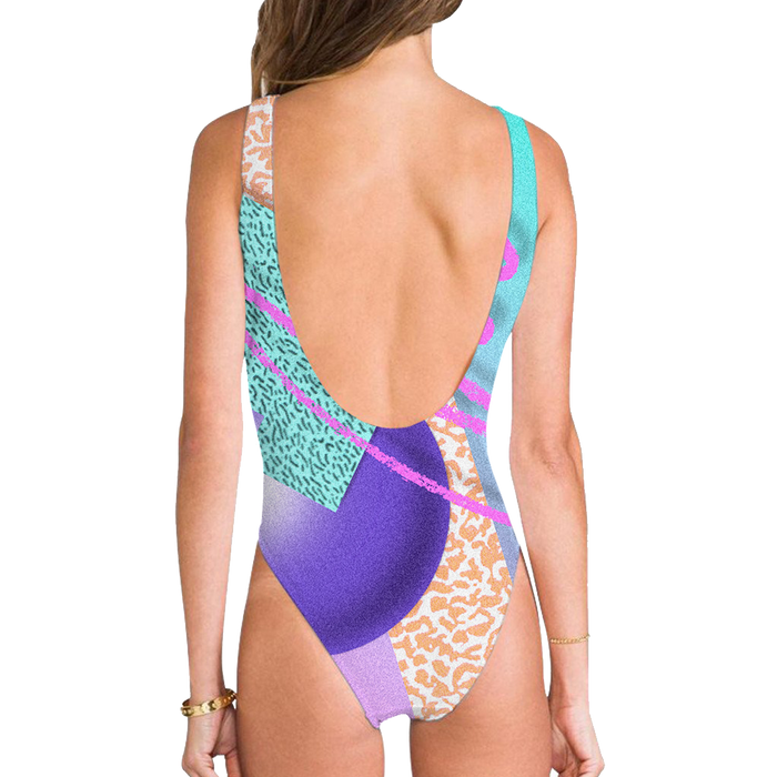 High Legged One Piece Swimsuit - Saved By The Vapor High Legged One Piece Swimsuit