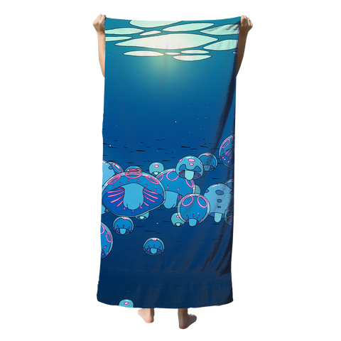 Under The Surface Beach Towel Towel T6