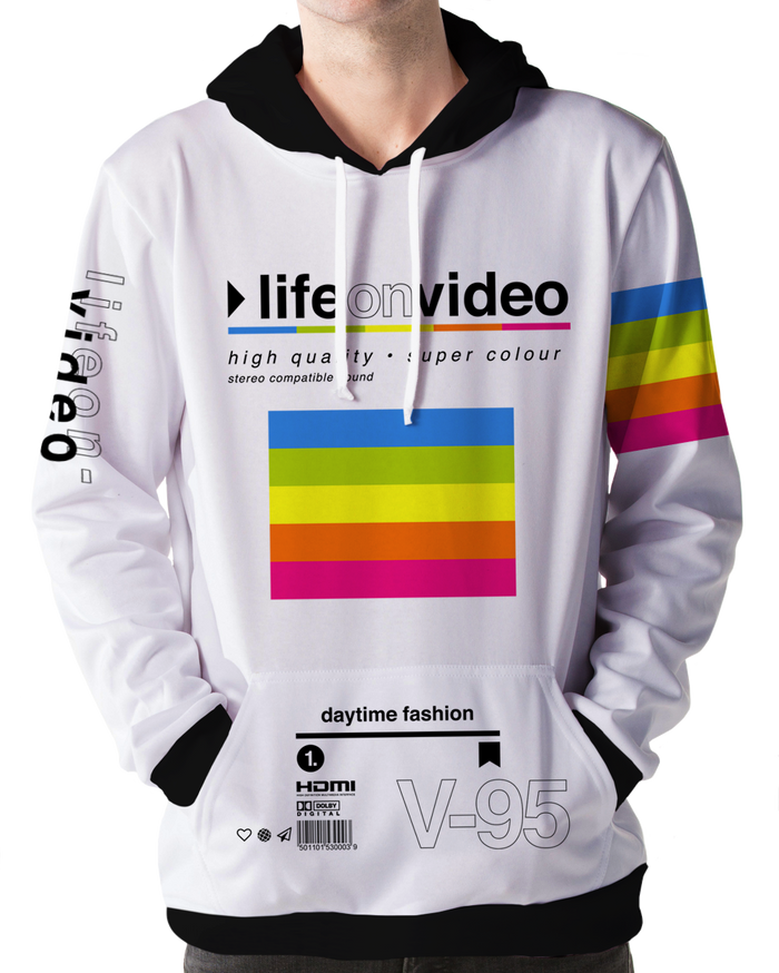 All Over Print Hoodie - Life On Video Hoodie
